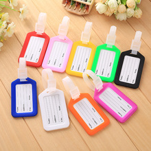 10pcs/lot Creative Solid Luggage Tag Hard PVC Plastic Aircraft Baggage Claim Tag Travel Accessories