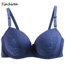 Xiushiren de grande taille 40C,42C,44C,40D,42D,44D,Blue,Black,White,Nude,Green,Pink,Red Bra Plus Size For Women Thin Cup DE0006