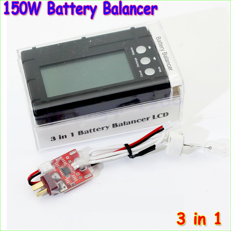 1pcs AOK 150W 2s-6s lipo li-fe Battery Balance Lcd Voltage Meter Tester and Discharge 3 in1+free shipping<br><br>Aliexpress
