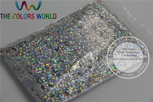 1mm Solvent Resistant Holographic Laser Silver color Makeup Glitter Powder Eyeshadow Face Body Cosmetic dust 1 Lot =50g