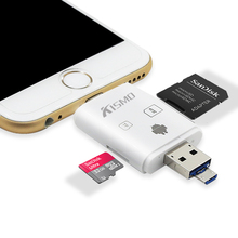 2 in 1 USB OTG Card Reader Micro USB OTG TF SD Card Reader flash memory for iPhone 6s iPad Air 2 Samsung Galaxy Smartphone PC(China)