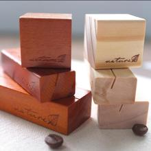 3pcs/lot Retro wooden Message holder Note card message Holders Desk Accessories Office School Supplies Korea stationery 1639(China)