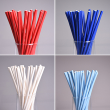 25pcs/lot  Eco-friendly Drinking Straws Solid color Paper Straws for Wedding Party Kids Birthday Party Decoration Supplies