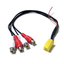 Car Line Out Adapter 4RCA Mini ISO RCA Aux-in Adapter Cable for Blaupunkt Grundig VDO CD Player