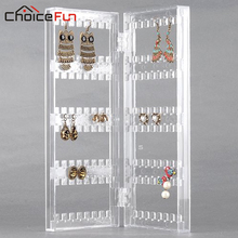 CHOICE FUN Earring Necklace Jewelry Bracelet Holder Clear Acrylic Jewelry Storage Holders Accessories Door Display Rack SF-84012(China)