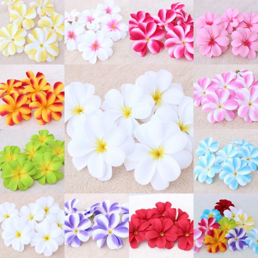 50piecs NEW Foam Floating Frangipani//Plumeria//Hawaiian Flower Head mix color