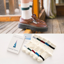 2017 Autumn Winter Women Dress Socks Office Business 100% Cotton Socks Long Stripes Colorful Girls Happy Socks For Ladies