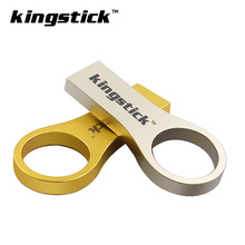 Metal Steel Ring USB Stick 64GB USB flash drive cheap pen drive 4GB 8GB 16GB 32GB memory stick pendrive U disk(China)