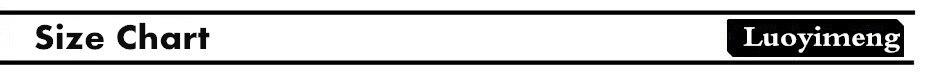 size chart -