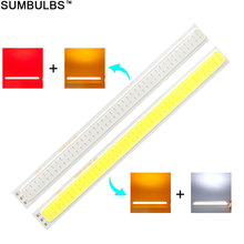 Sumbulbs 170x15MM 2W Double Color COB LED Strip Light Source for DIY Car Home Work Lamps 12V DC Red White Orange Bulb Lighting
