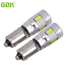 1pcs/lot Car Auto LED BA9S led canbus T4W Canbus led ba9s 6smd 5630 5730 ba9s LED Bulb reading dome Lamp license plate light(China)