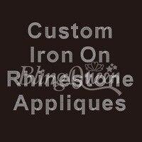100PCS/LOT Custom Iron On Rhinestone Appliques Hot Fix Iron On Transfers