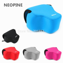 NEOPINE Camera Soft Bag for Panasonic FZ1000 Neoprene Case Pouch with Hook Black Grey Blue Red Pink Color