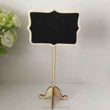 30x Black Wood Framed Scroll Mini Blackboard Chalkboard Stand For Vintage Rustic Chic Wedding Party And Xmas Baby Shower