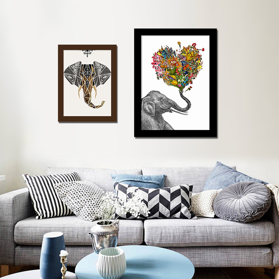 Popular cardboard elephant buy cheap cardboard elephant lots from china cardboard elephant - Elephant decor for living room ...