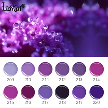 Lokai 6ml Nail Gel Polish Soak Off Gel Long Lasting UV Gel Painting Polish Varnish Nail Art Design Nude Purple Series 209-220(China)