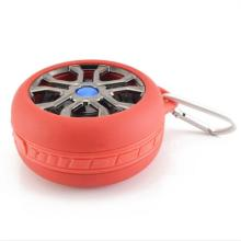 Mini Tyre Tire Shaped Waterproof Outdoor Travel Wireless Bluetooth Hands-free Subwoofer Speaker Music Player with MIC