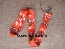 Hot Sale! 10 pcs Popular Minnie   Key Chains Mobile Cell Phone Lanyard Neck Straps   Favors SZ-216