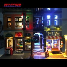 LED light up kit (Only light set) for Creator City Street Detective's Office Model Lepin 15011 Compatible with Brand 10246
