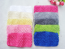 33colors Free Shipping Crochet Head Band for girl Hairbands 7cm 20pcs/lot