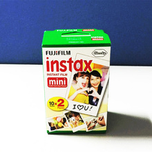 Origina 20pcs/box fujifilm instax mini 8 film 20 sheets for camera Instant mini25 50s 90 Photo Paper White Edge 3 inch wide film