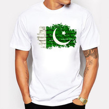 2017 Men T Shirt Pakistan Flag Print Cotton Nostalgic Style Brand clothing Summer Man T-shirts Pakistan Fans Cheer Men Tops