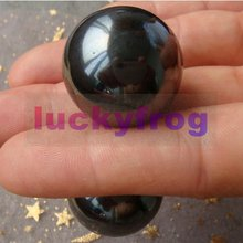 wholesale 25mm Natural Power Magnetic Hematite Magnetite Ball Sphere Polished Healing Specimens 10pcs/lot Free Shipping(China)