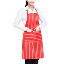 Fashion Unisex Striped Cooking Baking Aprons Catering Home House Kitchen Apron Aprons with 2 Pockets for Chefs Cooking Accessory