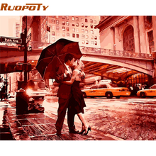 RUOPOTY Kiss Goodbye DIY Painting By Numbers Kits Acrylic Picture Vintage Painting Hand Painted Wall Art Home Decoration 40x50cm