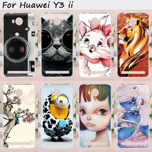 Mobile Phone Skin Cover For Huawei Y3 II Y3 2 Cases With a Camera Painted Hard Plastic Cell Phone Skin Case Shell Hood Cover Bag