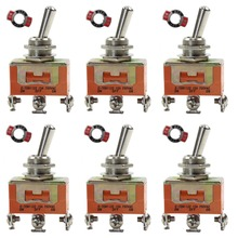 evemodel 6pcs Miniature Toggle Switch Layout ON-OFF-ON SPDT SW03 model building kit railway modeling(China)
