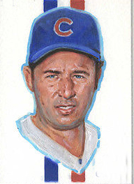 Original ART # Ron Santo Cubs Legend oil painting--100% hand painted 24 inch- best home Decor(China (Mainland))