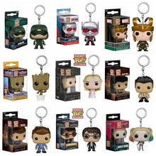 Marvel Funko POP The Green Arrow Loki Pocket Keychain Key Ring Hanger Dancing Groot Dean Castiel Civil War Ant-Man Suicide Squad