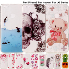 Buy B67 Clear Soft TPU Case iPhone 8 Thin Silicone Back Cover Huawei Honor 6C 5C 8 Y6 II Y5 2017 Nova Lite P8 P10 Plus Cover for $1.20 in AliExpress store