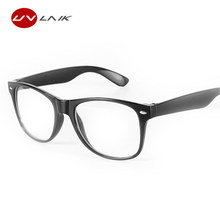 UVLAIK Fashion Men Women Optical Eyeglasses Frame Glasses With Clear Glass Brand Clear Transparent Glasses Women's Men's Frames(China)
