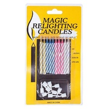 10Pc/Set Quality Magic Trick Relighting Candle Birthday Cake Candle Party Xmas Gift Fun