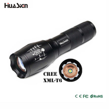 High Power CREE XML-T6 5 Modes 3800 Lumens 18650 battery LED Flashlight Waterproof Zoomable Torch lights