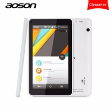 Brand Aoson M751S-BS 7 inch HD Android Tablet PC Quad Core Allwinner A33 512M/8G Dual Cameras Android 4.4 wifi bluetooth kids(China)