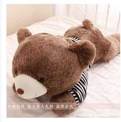 stuffed animal 80cm teddy bear plush toy stripes sweater teddy bear doll throw pillow gift w3170<br>