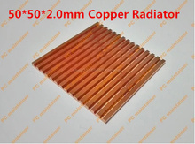 Ultra-thin Red Copper Pure Copper Video Memory Internal Storage MOS Bridge chips Set Top Box Router Heatsink 50*50*2.0mm Copper(China)