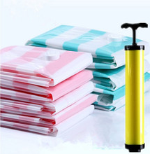 2018 New Vacuum compression bags 10 piece set hand pump Home organizer Space clothing quilt storage bag vacuum bag(China)