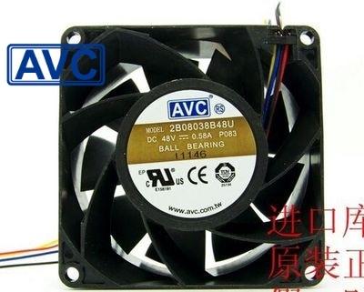 AVC New and original 2B08038B48U 8038 8 48V 0.58A PWM double ball bearing fan 80*80*38mm<br>
