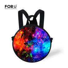 Little Kids Galaxy Backpack Star Universe Space Backpack Small Preppy Style Nursery Children Backpack Mochila Book Bags