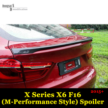 X6 Series F16 Carbon Fiber Rear Trunk Spoiler Car Styling M Performance Style Body part  for BMW 2014 2015 2016 F16