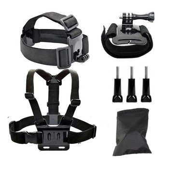 Action sports cámara accesorios para soocoo c30/c30r/c50/s70/60b/60/c10s gopro hero 3 4 hero4 sj4000/5000 yi cam