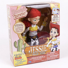 Toy Story Jessie The Yodeling Cowgirl Talking Doll with Yarn Hair PVC Action Figure Collectible Model Toy 30cm