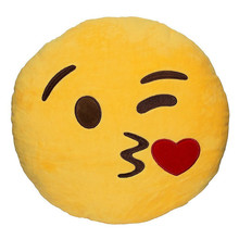19 Choose Emoji Pillow Cushion Decoration Pillows Smiley Face Pillow Emoticons Cushions Smile Emoji Pad Funny Home Supplies(China)