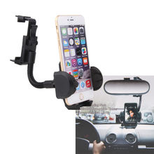 Universal Car RearView Mirror Mount Stand Phone Holder For iPhone 6s 6 4.7 5.5 Plus for Samsung S6 S5 GPS PDA MP4 for LG G4 G3(China)