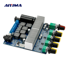 Buy Aiyima 2017 New TPA3116 Subwoofer Amplifier Board 2.1 Channel High Power Bluetooth Audio Amplifier Board DC12V-24V 2*50W+100W for $26.96 in AliExpress store