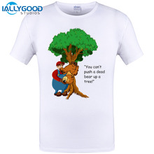 2017 New Hot Game Super Mario T Shirt You Can't Push A Dead Bear Up A Tree! Printing T-Shirt Short Sleeve Hipster Tops Cool Tees
